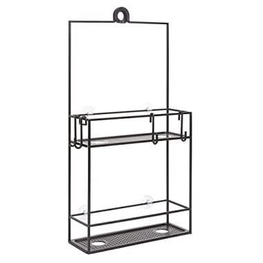 Umbra Cubiko Shower Caddy, Black Metal Shower Caddy Over the Shower Head