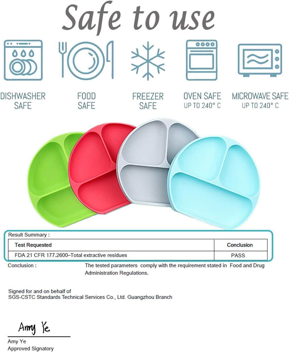Bol /à ventouse en silicone sans BPA pour b/éb/é avec couvercle anti-d/éversement de la plaque de ventouse utilitaire /à utiliser