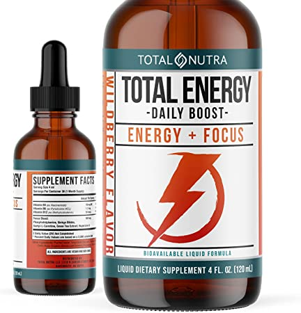 Extra Strength B Vitamin Drops- B Vitamins B12, B6, B3- Vegan and Non GMO- Instant Energy, Focus & Metabolism Support with Green Tea, Carnitine & Ginkgo Biloba- Alternative to B Complex Capsules 4oz
