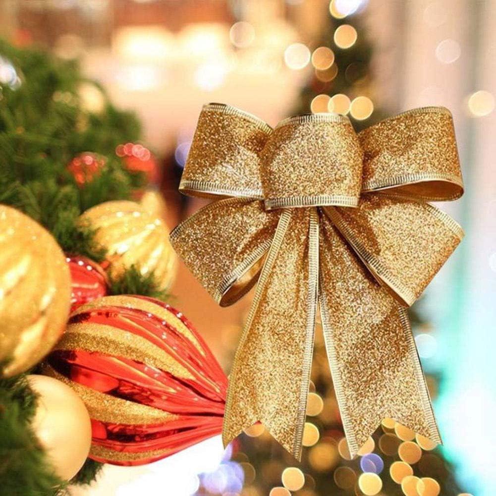 10 PCS Big Bows Bowknot Christmas Tree Party Gifts Present Xmas Decorations CY2Z