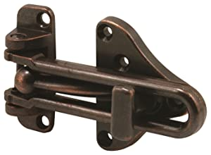 Defender Security U 11317 Swing Bar Door Guard With High Security Auxiliary Lock, Classic Bronze Finish, 1-Pack