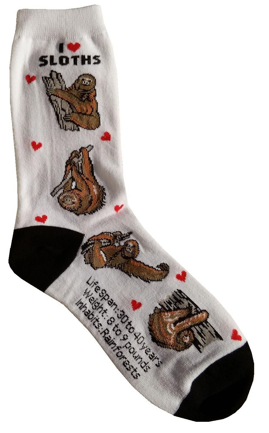 I Love Sloths Gift Collection (Women Cotton Socks) -