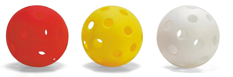 Floorball Unihockey Ball in weiß oder rot - 6er Set 70mm - tolle Qualität Classic' s