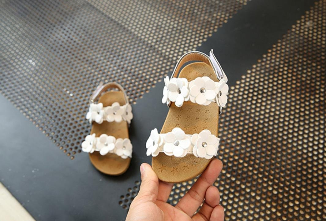 Toddler Baby Girl Sandals,Todaies Girl Floral Sole Kids Children Princess Sandals Beach Shoes 2018 US:7, Pink