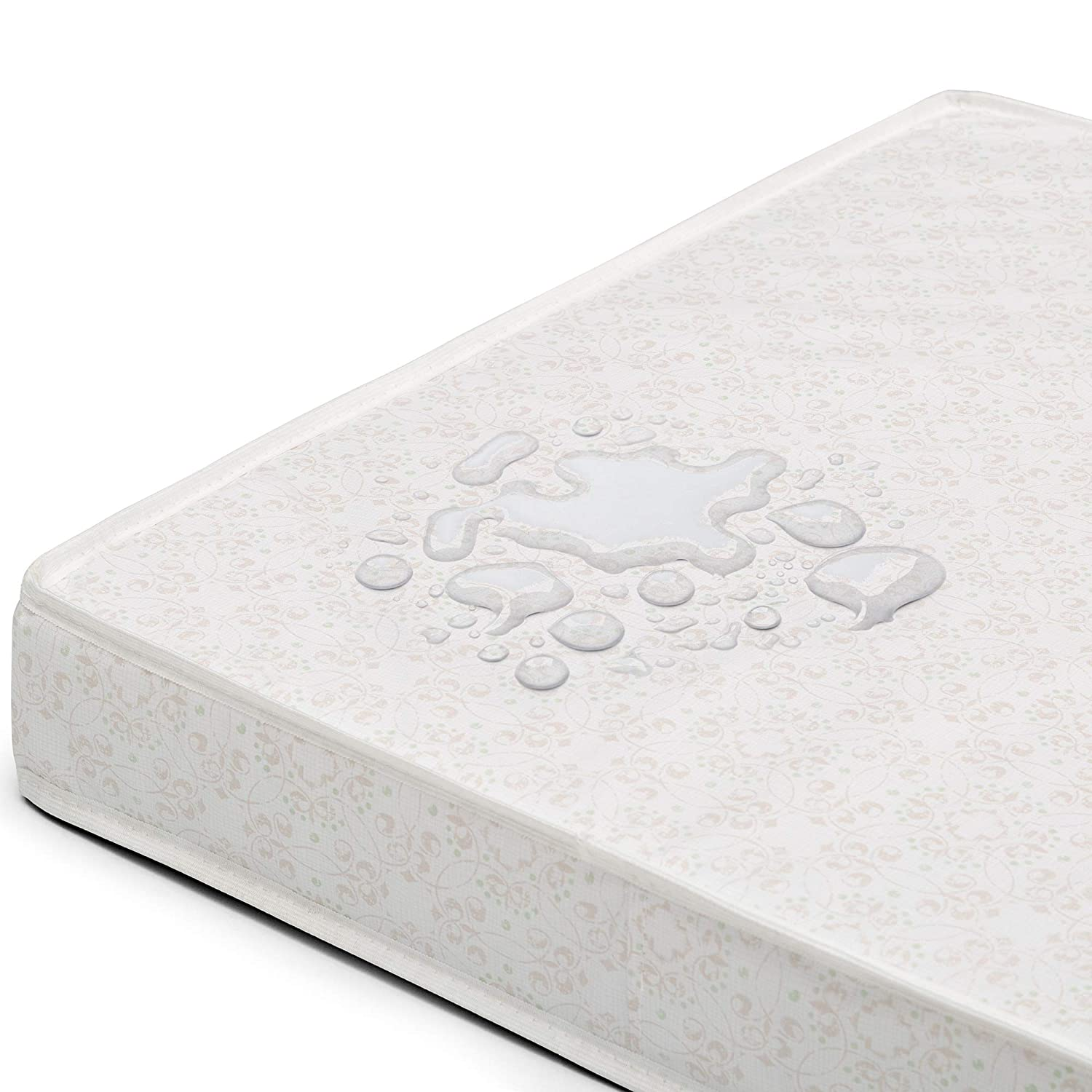 Amazon.com : Delta Children Emery Mini Convertible Baby Crib & Twinkle Stars 3-Inch Waterproof Mini Crib Mattress, Bianca White : Baby