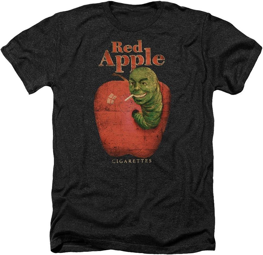 A&E Designs Pulp Fiction Shirt Red Apple Cigarettes Heather T-Shirt