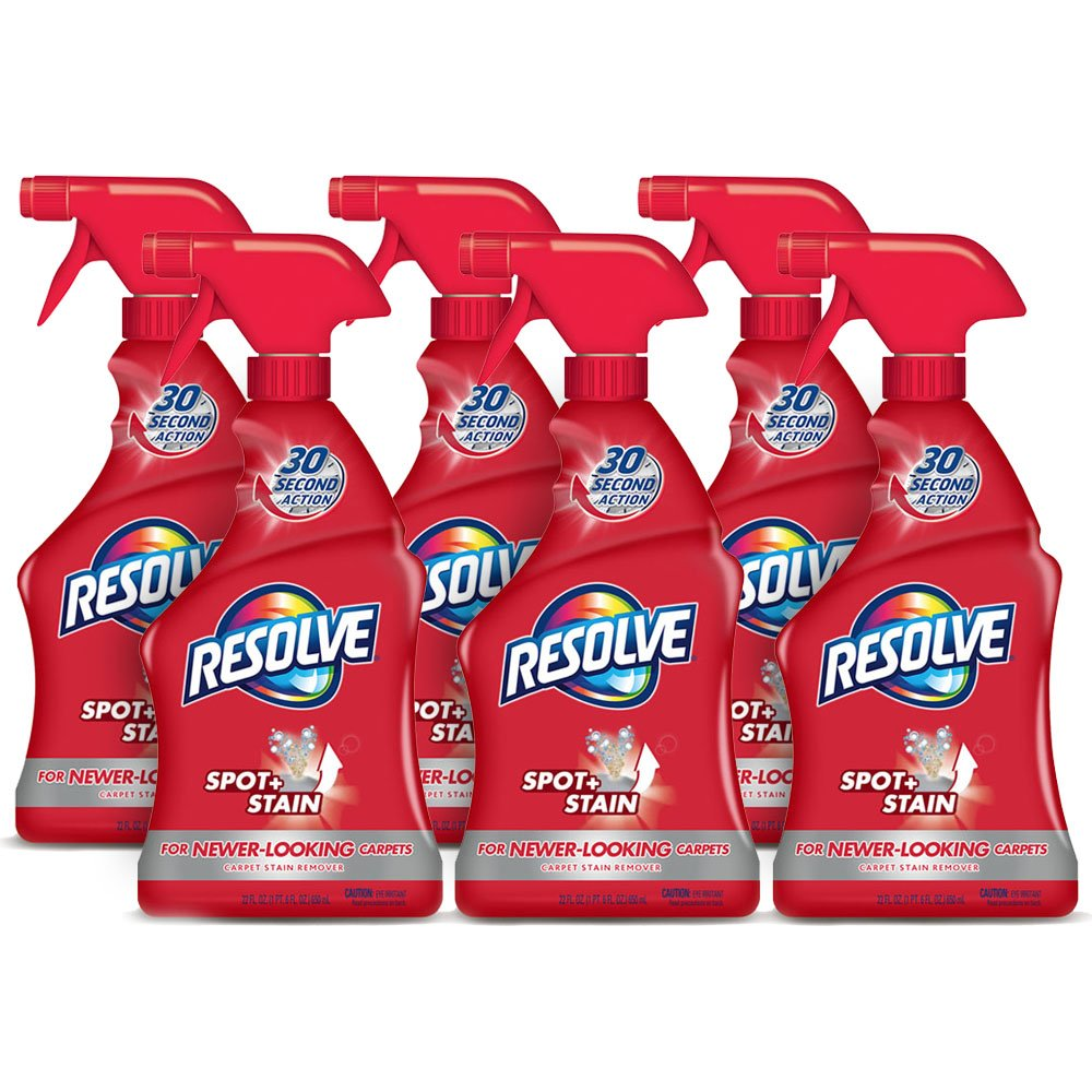 Resolve Triple Oxi Advanced Carpet Cleaner and Stain Remover, 6 Count
