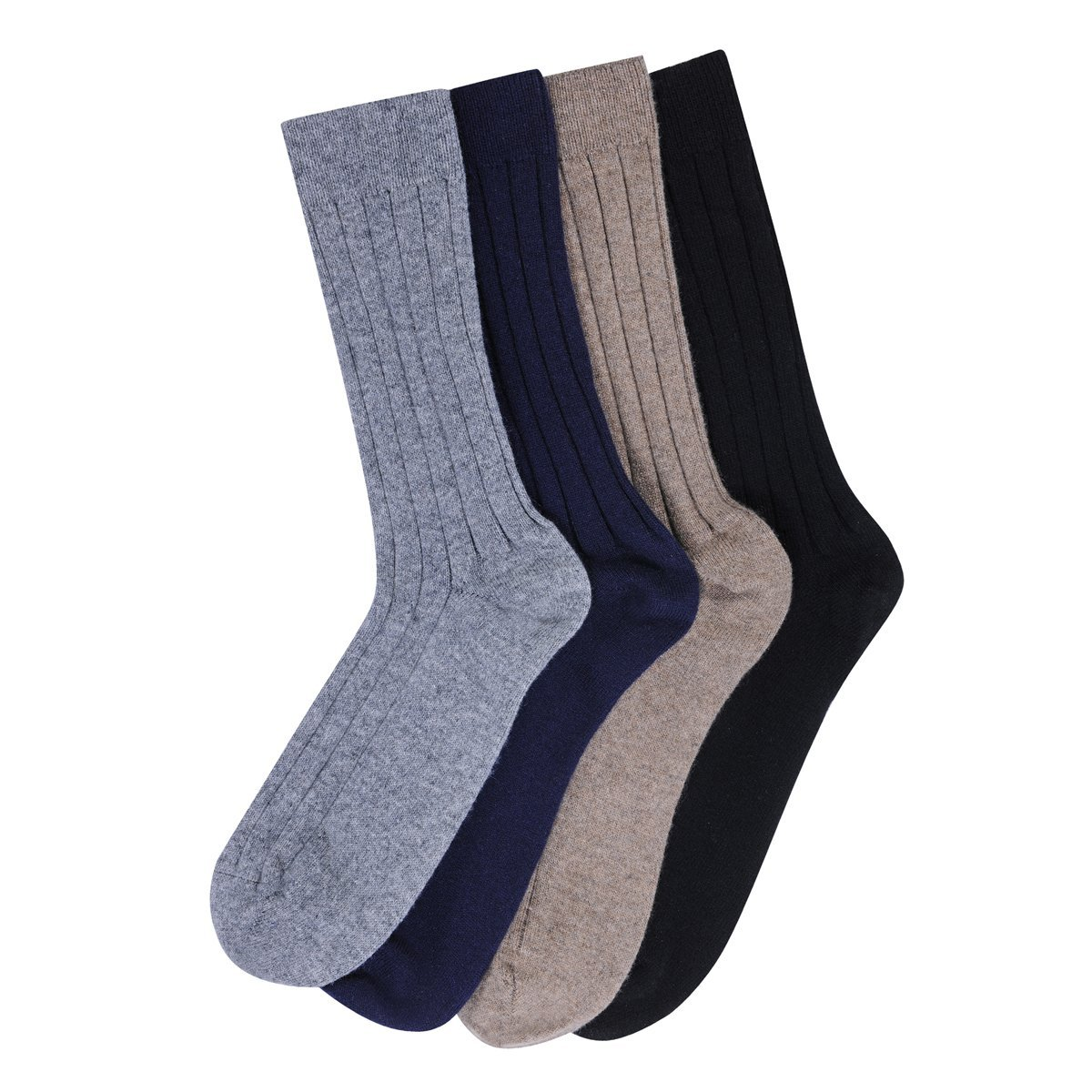 Large US11-13 Mens Otter Brown Cashmere Mix Socks Made in Scotland 85/% Cashmere