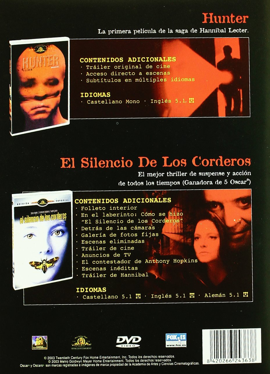 Hunter/El Silencio De Los... - Pck 2 [DVD]: Amazon.es: William L Petersen, Kim Greist, Joan Allen, Brian Cox, Jodie Foster, Anthony Hopkins, Scott Glenn, Ted Levine, Michael Mann, Jonathan De, William L