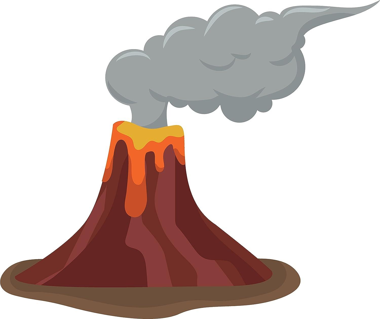 Amazon.com: Divine Designs Cute Tropical Nature Island Volcano ...