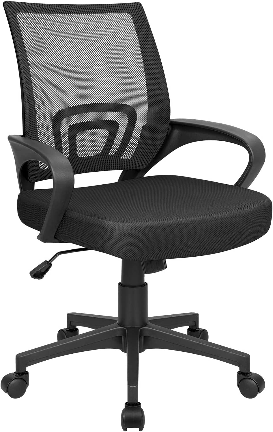 Homall Office Mid Back Computer Ergonomic Desk Chair, Black