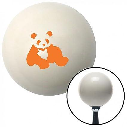 American Shifter 41250 Ivory Shift Knob with 16mm x 1.5 Insert Orange Panda Bear