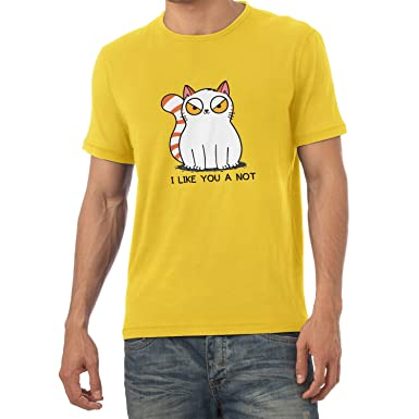 Texlab I Like You a Not - Herren T-Shirt, Größe S, Gelb