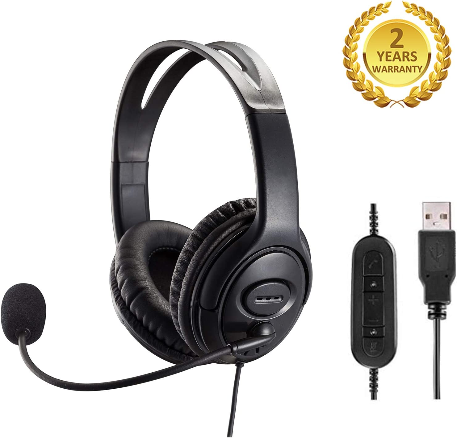 Voice Recognition USB Headset with Noise Cancelling Microphone