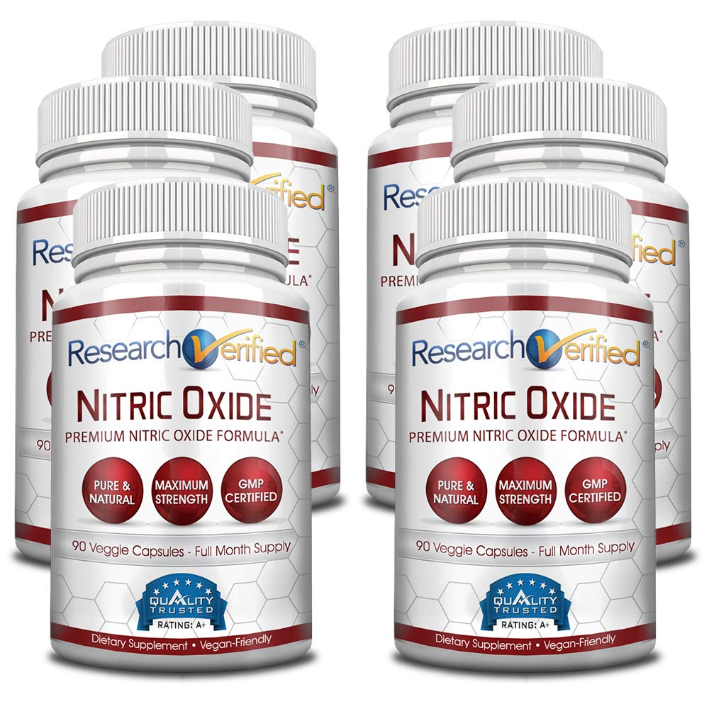 Research Verified Nitric Oxide - With L-Arginine and L-Citrulline - Premium Muscle Building Nitric Oxide Booster - 100% money-back guarantee! 6 Months Supply …