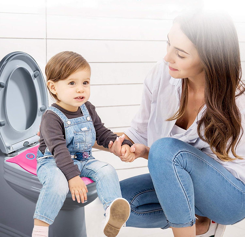 Kriogor Faltbare Toilettensitze f/ür Kinder Blau Universell Passender Waschbar Falten Toilettentrainer WC-Sitz mit Tragetasche