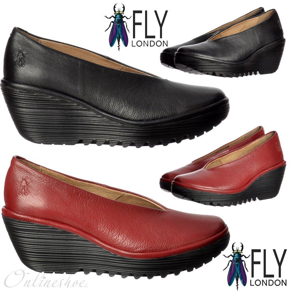 FLY London Damen Yaz Plateau Rot Schuhe Cordoba Rot Plateau 2af29f