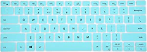 Leze - Ultra Thin Clear Keyboard Cover Compatible with 13.3'' New 2019 Dell XPS 13 7390 2-in-1 Laptop - Mint