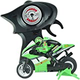 RC Remote Control Motorcycle Scooter Rider Wireless Radio Goes on 2 Wheels 2.4G 4 Channel with Built in Gyroscope 1:20 Scale for Boys Child Green