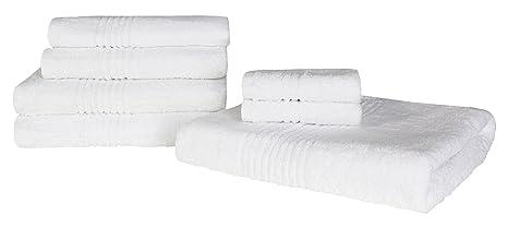 Highams de lujo 100% algodón egipcio 7 piezas Toalla Bale 550 G/m²)
