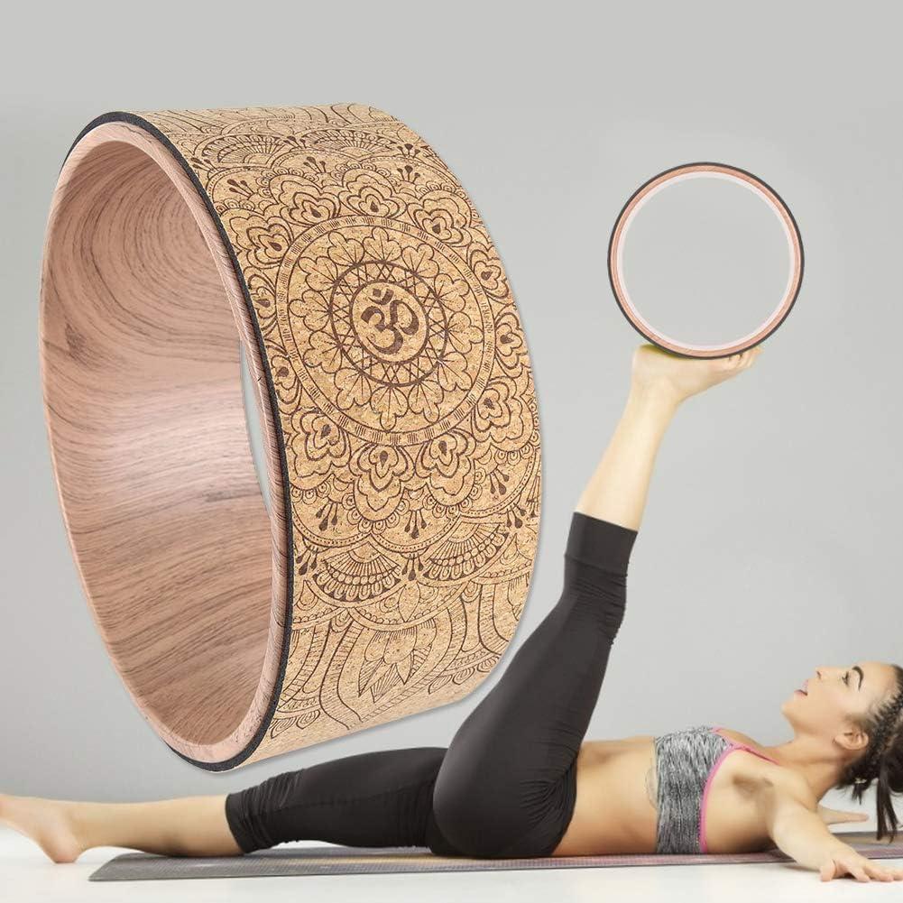 nat/ürliche Yogarolle aus Kork rutschsicher und nat/ürlich Kork Yoga Faszienrolle