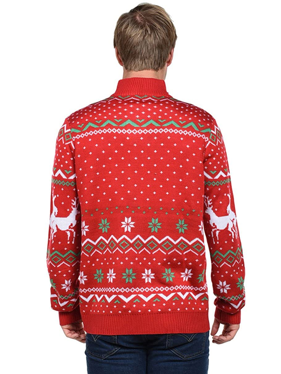 Funny Humping Reindeer Ugly Christmas Sweater Tipsy Elves Mens Christmas Climax Sweater