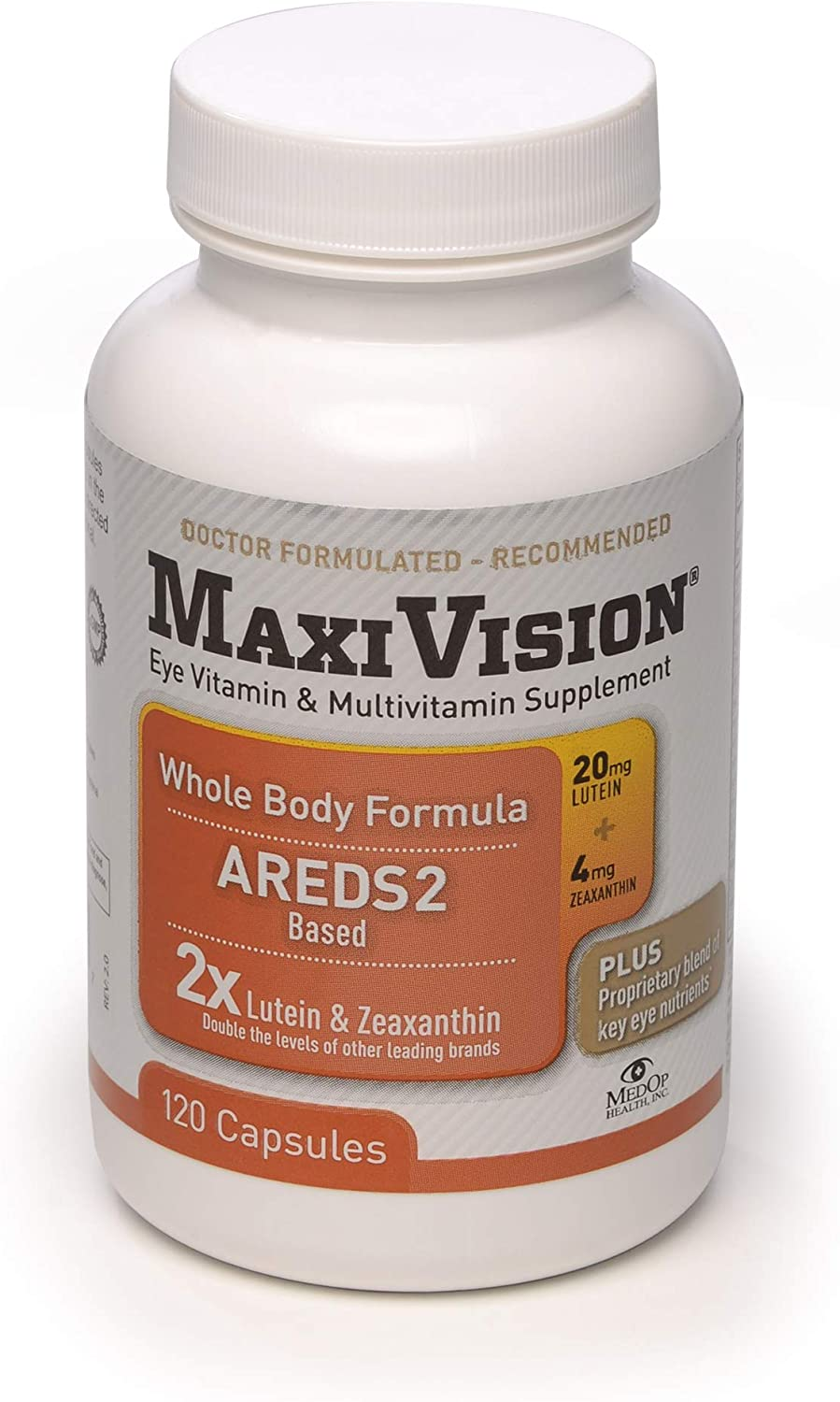 MedOp MaxiVision Whole Body Formula – 120 Capsules, 3 Bottles