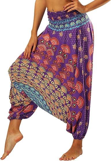 Pantalon De Yoga De Essentiel Sarouel Hommes Hippie Danse Sarouel Bouffantes Plage /ÉT/é Sport Aladin Transpirer Pantalons De Loisirs De