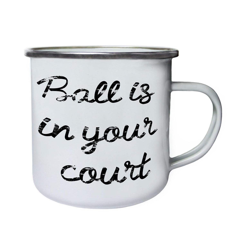 ボールis in your裁判所レトロ、Tin、エナメル10ozマグk300e B073VWNH4T