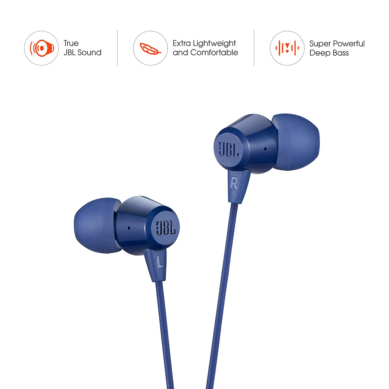JBL C50HI in-Ear Headphones with Mic: Amazon.in: Electronics