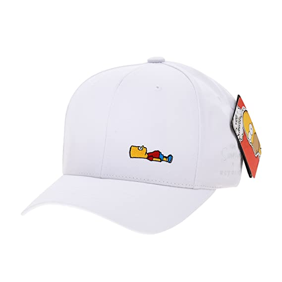 WITHMOONS The Simpsons Ball Cap Bart Simpson Lying Down Comics HL1716 (Black) at Amazon Mens Clothing store: