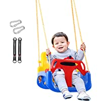 REDCAMP 3 in 1 Toddler Swing for Outside Tree, Sturdy Secure Plastic Outdoor Infants Baby Swing Seat for Swingset Playground Inside