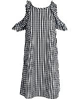 CindyCI plissado fora do ombro solto curto dress summer dress mulheres da manta do vintage vestidos