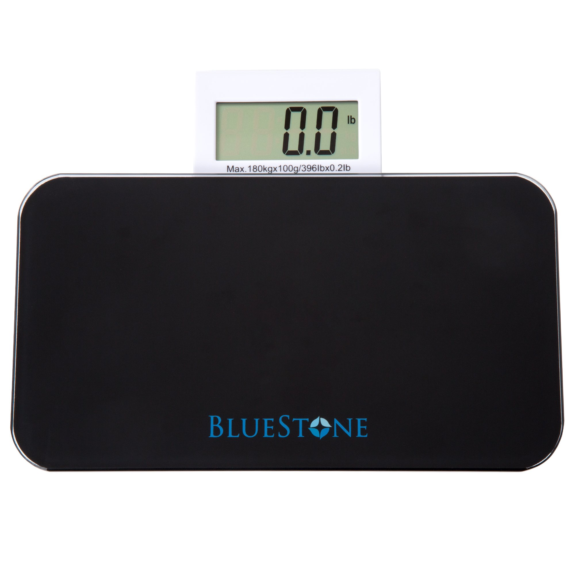 Travel Bathroom Digital Body Scale With Pop Out Display – Tempered Glass Electronic LCD Screen, Battery Powered, LBs and Kilos by Bluestone
