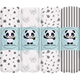 Bamboo Muslin Baby Swaddle Blanket - Hypoallergenic Soft Silky Newborn Swaddle Wrap, Neutral Receiving Blanket for Boy and Gi