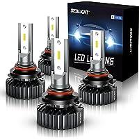 SEALIGHT Scoparc S1 9005/HB3 9006/HB4 LED Headlight Bulbs, 14000 Lumens High Low Beam, 6000K Bright White, 300…