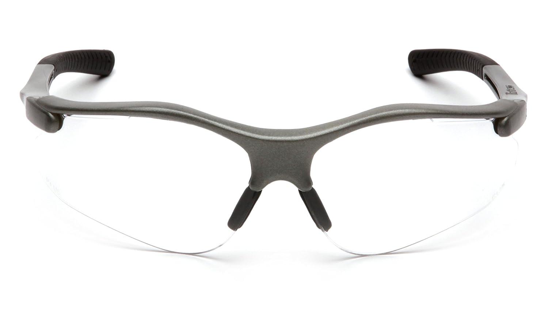 Pyramex Fortress Safety Eyewear clair, objectif avec cadre Gris ...