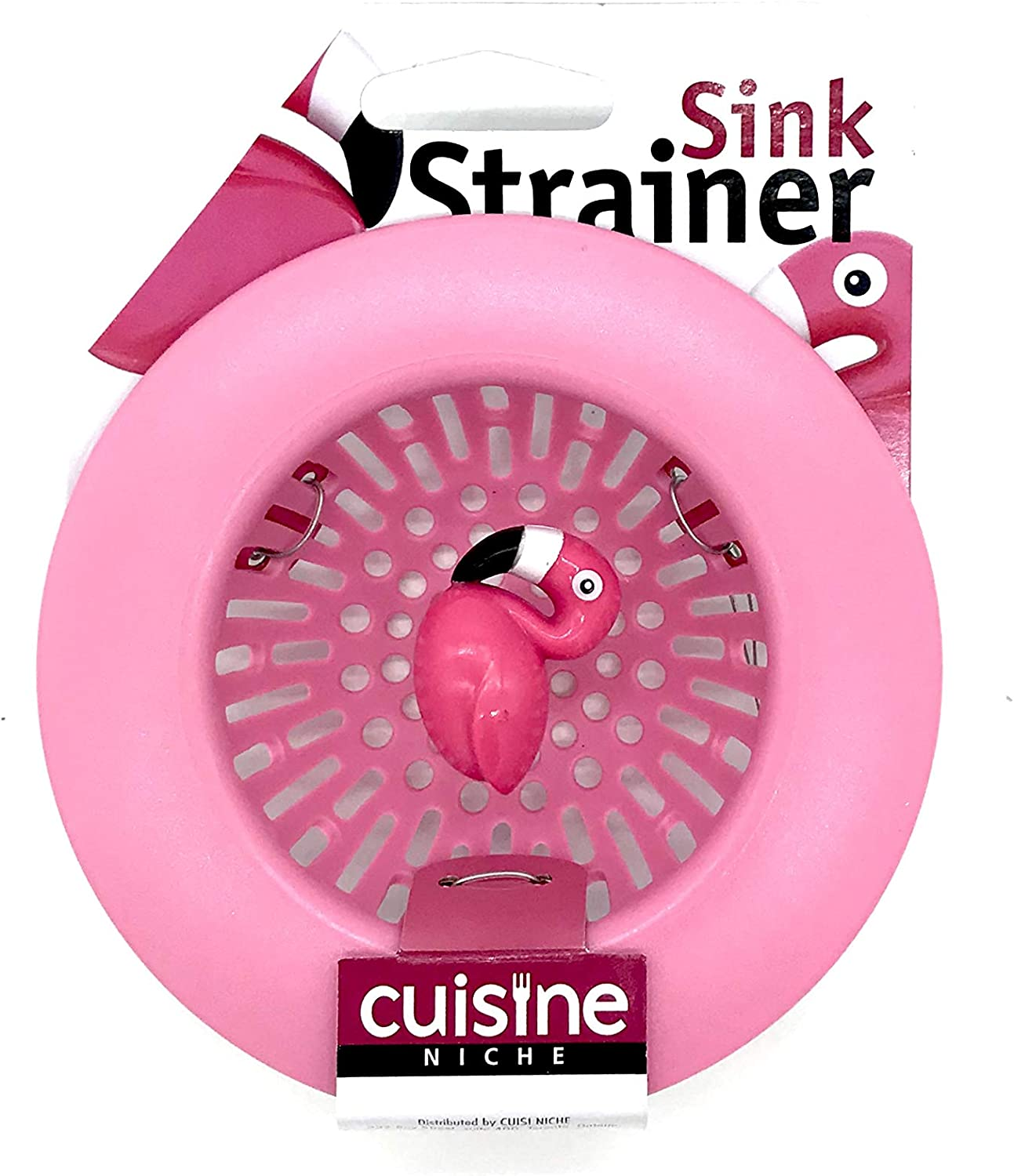 Plastic//Stainless Steel Pink//Silver Joie 19900 Flamingo Sink Strainer