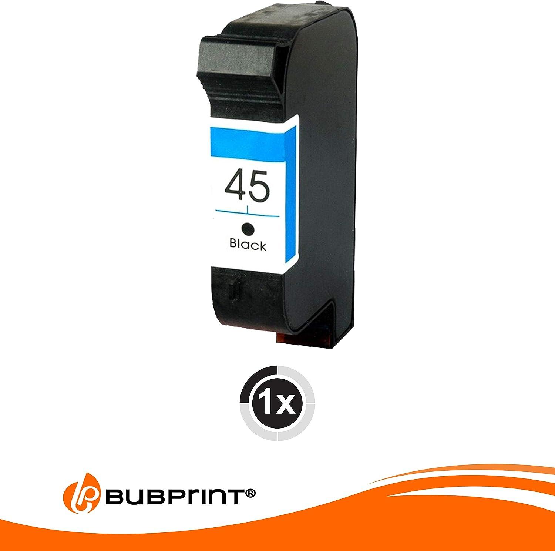 bubprint cartucho impresión compatible con HP 45 Negro: Amazon.es ...