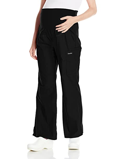 d37263f1ecde4 Cherokee Women's Maternity Knit Waist Pull-On Pant, Black, X-Small