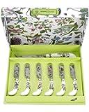Portmeirion Botanic Garden Cheese Knife and 6 Spreader's