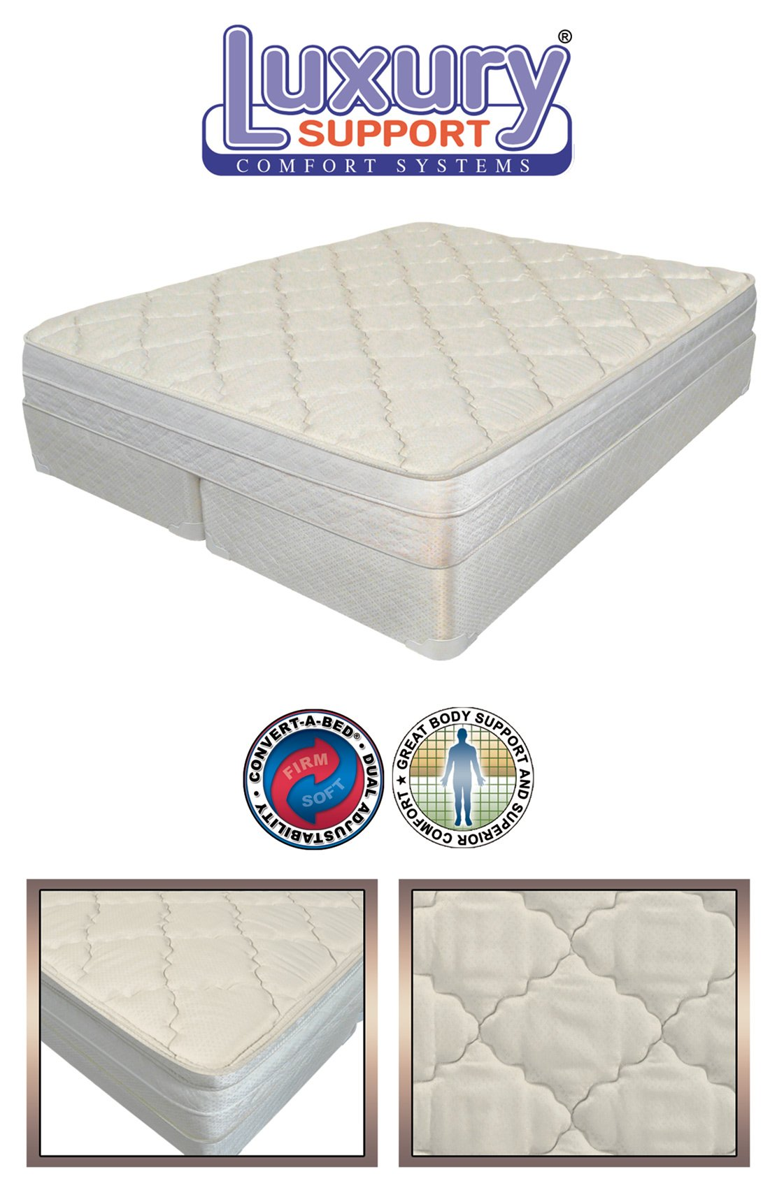 8 Inch King Size Innomax Luxury Support Evolutions Adjustable Sleep Air Bed Mattress. Includes by INNOMAX