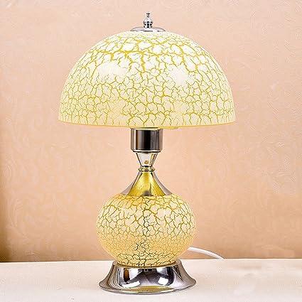 Lámpara de mesa de cristal, lámpara de escritorio de la ...