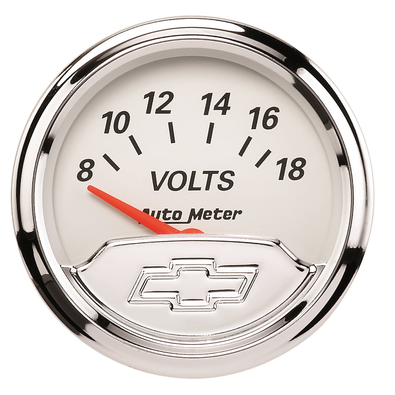 Auto Meter 1391-00408 Chevy Vintage 2-1/16' 8V - 18V Electric Voltmeter Gauge (52.4mm)
