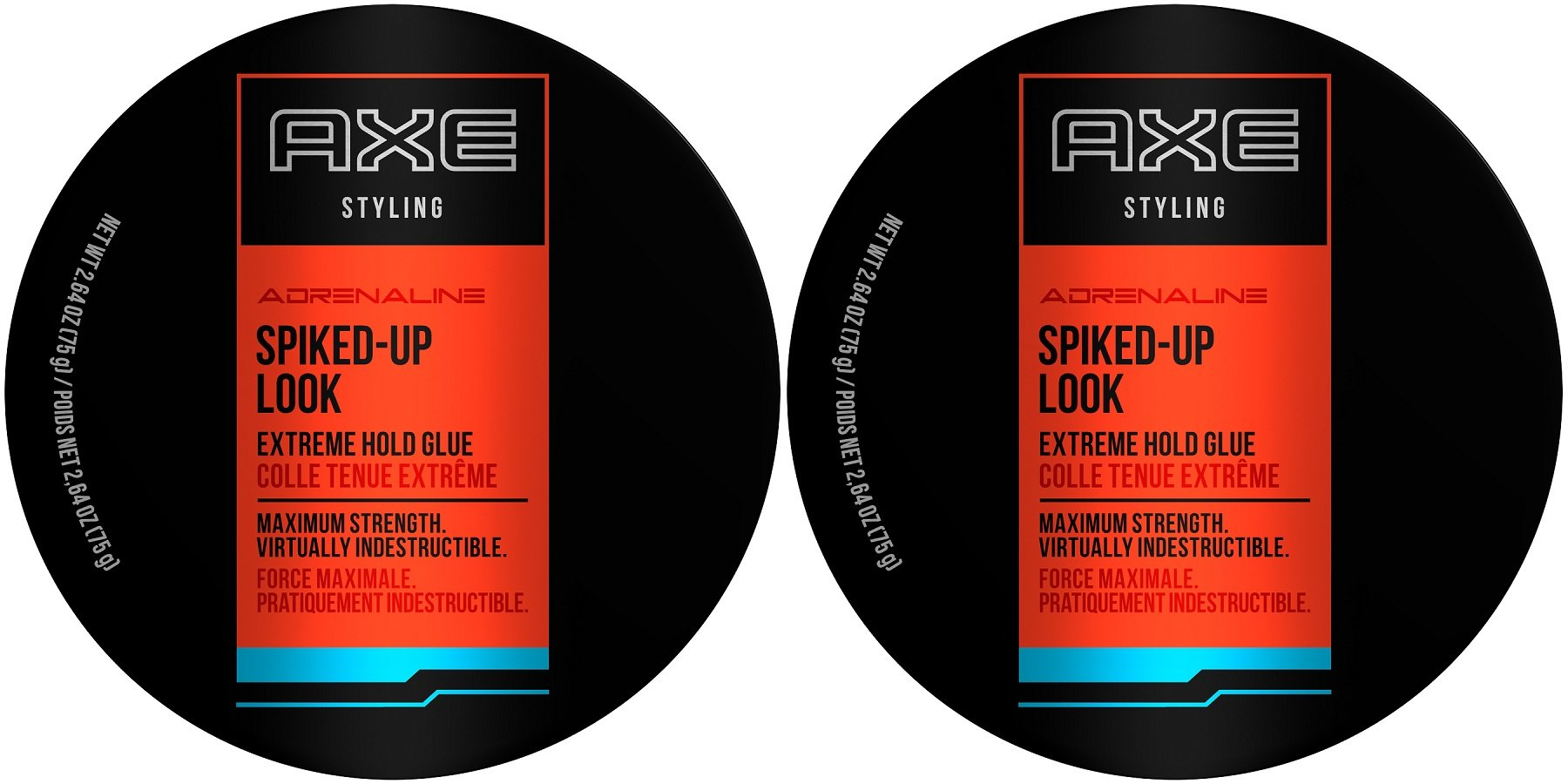 AXE Styling Adrenaline Spiked-Up Look Extreme Hold Glue, 2.64 Ounce (Pack of 2) by AXE
