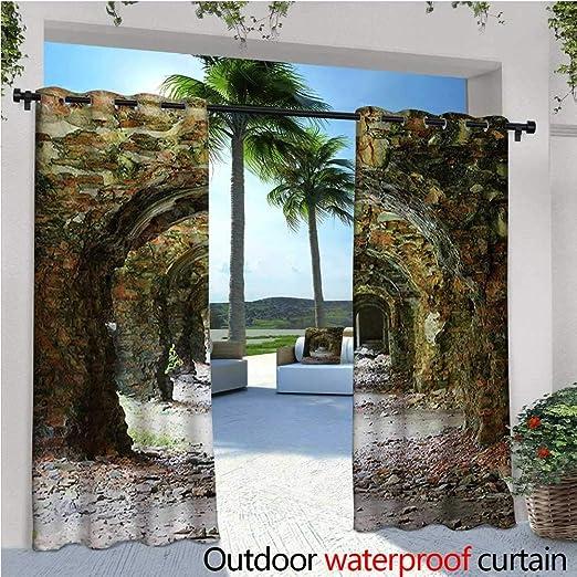 Homehot - Cortinas rústicas de exterior y exterior de madera ...
