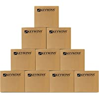 Keywins Storage Boxes With Handles-Carton cardboard box for moving and packing and shipping And Archive -PACK OF 10…