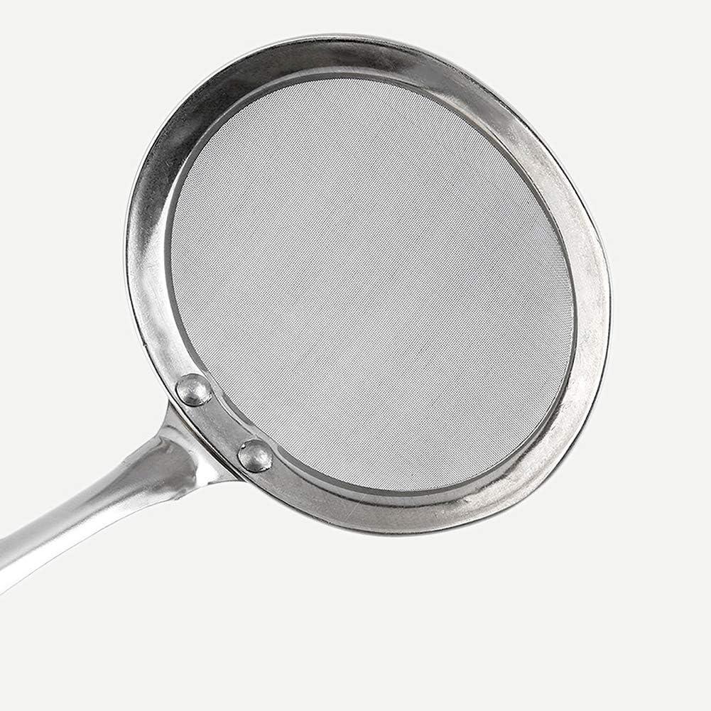 Super fina malla de aceite Skimmer Hot Pot Colador Espuma grasa Pesca Cuchara Colador Herramienta de cocina