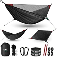 ETROL Camping Hammock - Upgraded 2 in 1 Hammock with Mosquito Net - 2 Tree Straps, Hold Up to 485lbs - Lightweight…