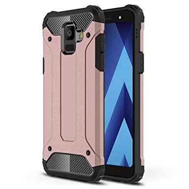 release date eda42 04957 Galaxy A6 2018 Case, Galaxy A6 Plus 2018 Cover Heavy Duty Hybrid Shockproof  Hard Shock-Absorption Bumper Anti-Scratch Back Protective For Samsung ...
